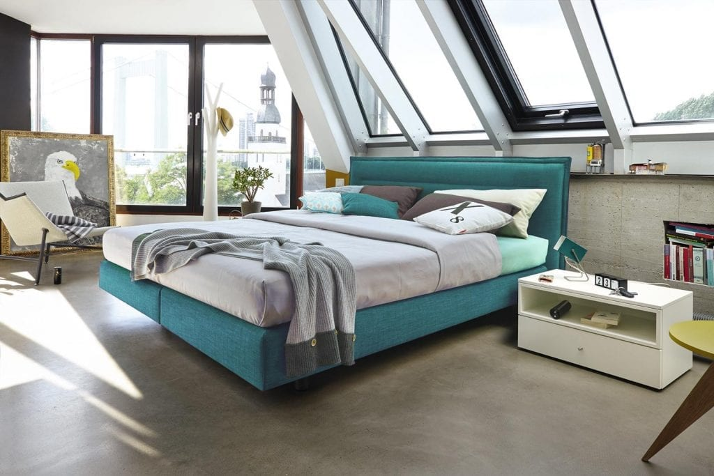 Hülsta BOXSPRING Bed C - Sea green-0