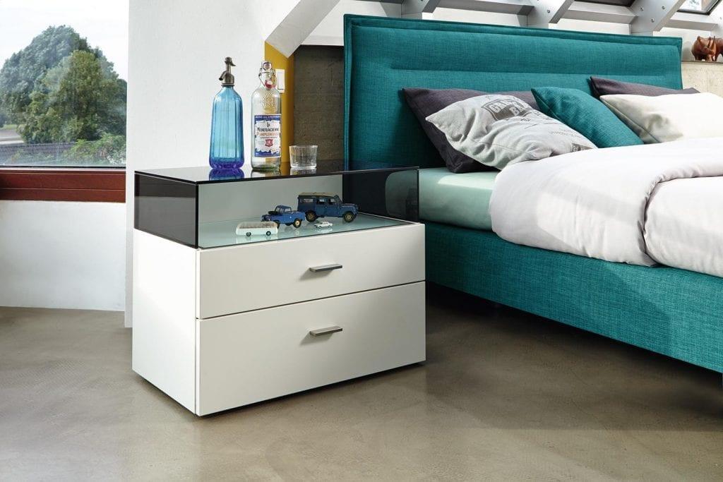 Hülsta BOXSPRING Bed C - Sea green-7456