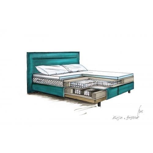 Hülsta BOXSPRING Bed C – Sea green-7453
