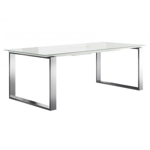 Hülsta ET19 Étkezőasztal - fehér/rozsdamentes acél-0