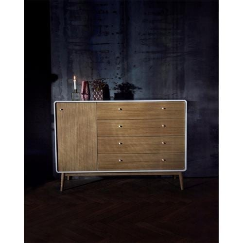 Amber dresser with 4 drawers and door - White -12862