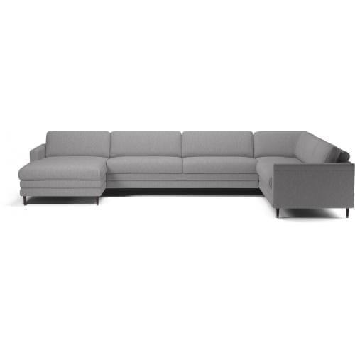 COOPER 6 személyes sarok ülőgarnitúra lounger – alacsony párnákkal-8697