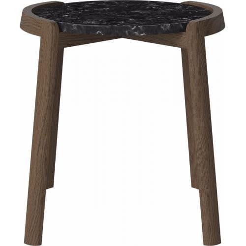 MIX dohányzóasztal - Kicsi - Fekete/ Sötét tölgy-0