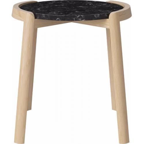 MIX dohányzóasztal - Kicsi - Fekete/Világos tölgy-0