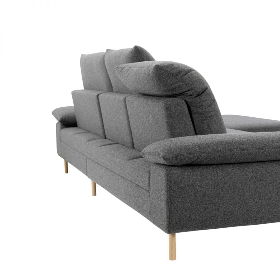 NEST 4 seater sofa with chaise longue-11043