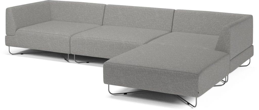 ORLANDO 4 units sofa with chaise longue-10075
