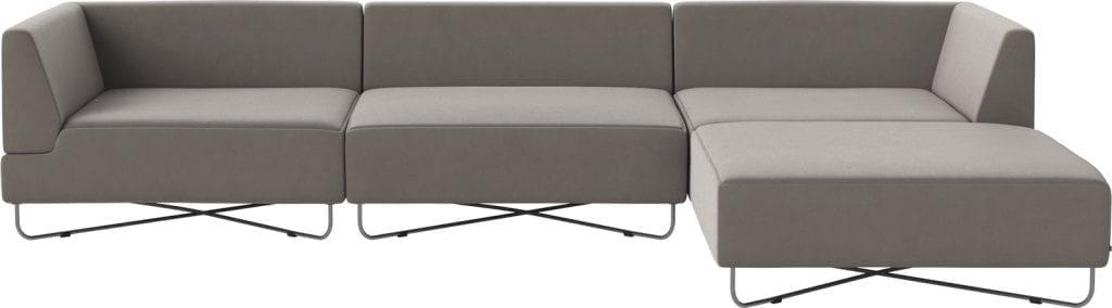 ORLANDO 4 units sofa with chaise longue-10076