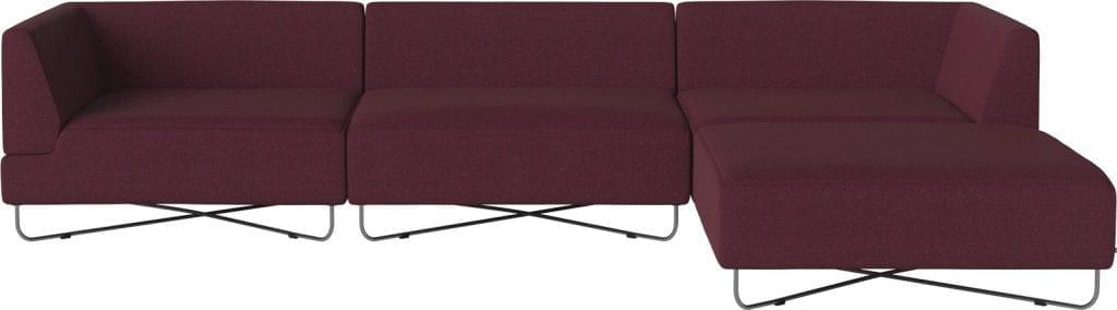 ORLANDO 4 units sofa with chaise longue-10081
