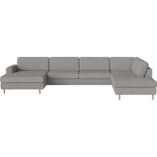 SCANDINAVIA 6 seater corner sofa with chaise longue and open end-8790