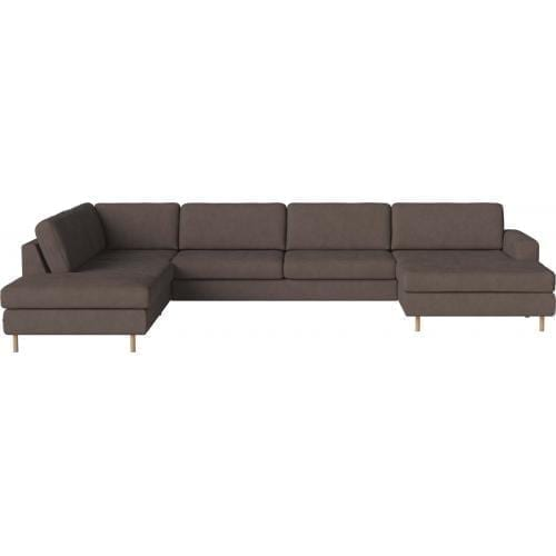 SCANDINAVIA 6 seater corner sofa with chaise longue and open end-0