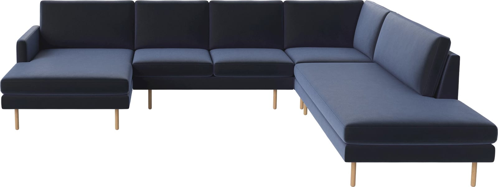 SCANDINAVIA REMIX 5 seater cornersofa with chaise longue and open end