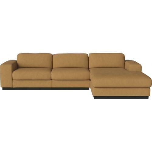 Sepia 3 seater sofa with chaise longue-0