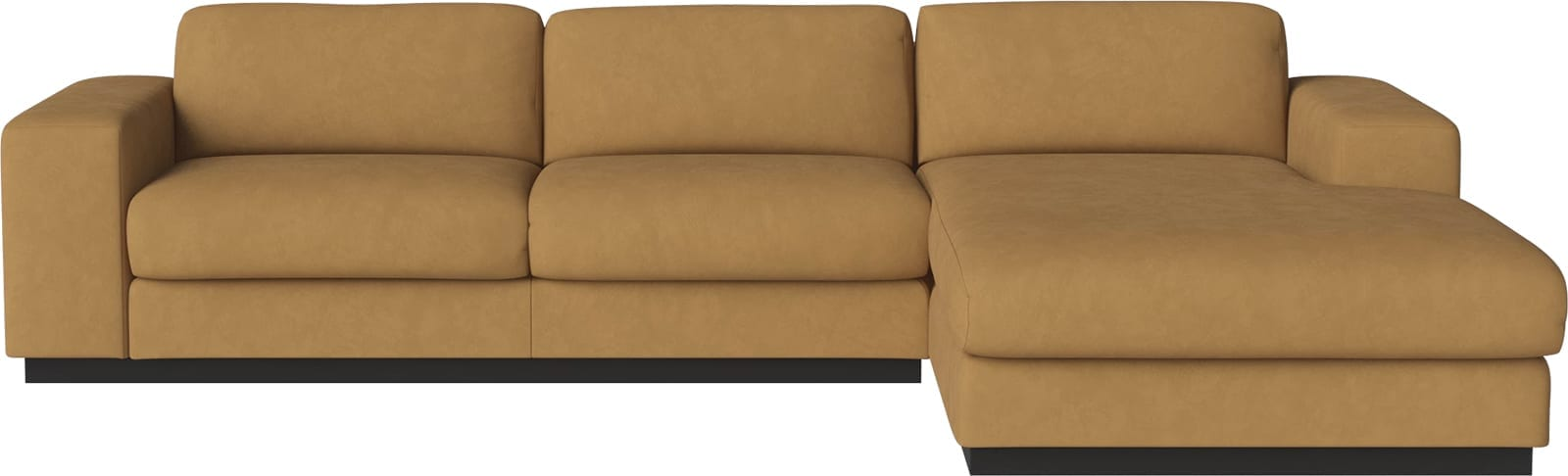 Sepia 3 seater sofa with chaise longue