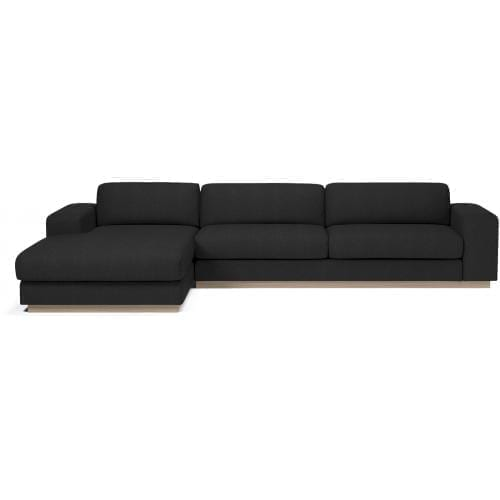 Sepia 4 seater sofa with chaise longue-10221
