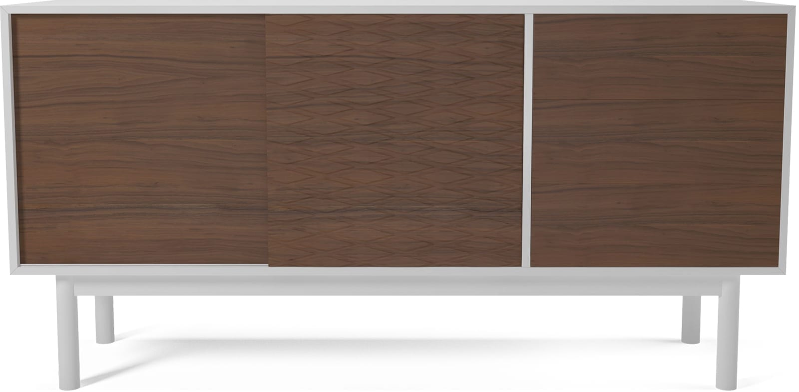Case Sideboard Mdf Whiteoiled Walnutwooden Legs White