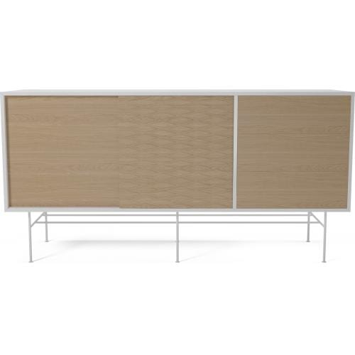 CASE Sideboard - MDF - white/white oak/White lacquered steel socket-0