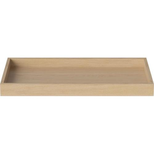 Cosima tray - Small- White pigmented lacquered oak-0