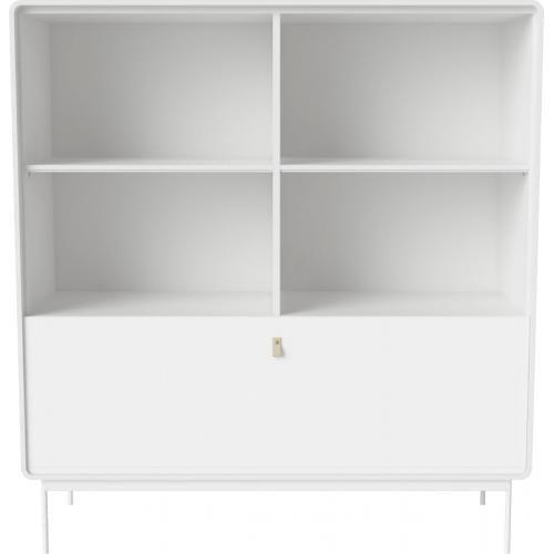 AMBER szekrény - Fehér - Acél lábak-0