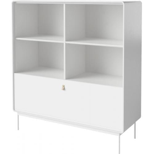 AMBER szekrény – Fehér – Acél lábak-15442