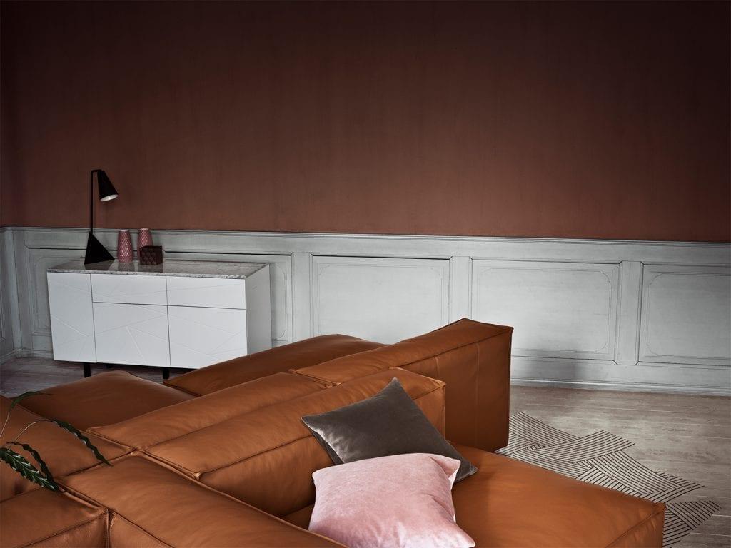 Save Media Marble Large - Mattított tölgy- Fekete márvány felsőrész - Tölgy lábak-15516
