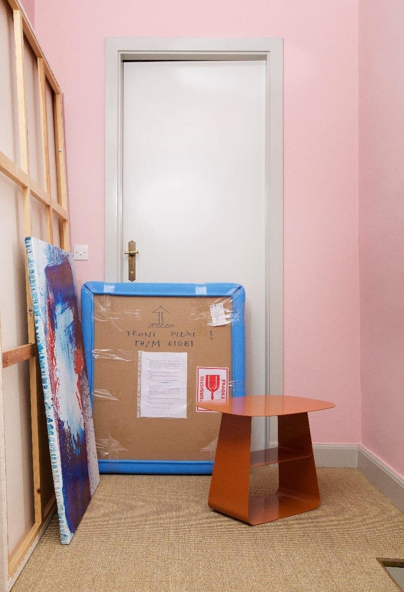 STAY Asztal - 40x40 - Rozsdabarna-16755