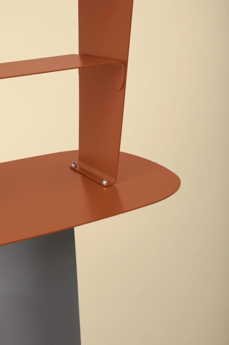 STAY Asztal - 40x40 - Rozsdabarna-16754