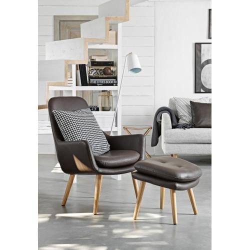 BOWERY armchair with footstool-0