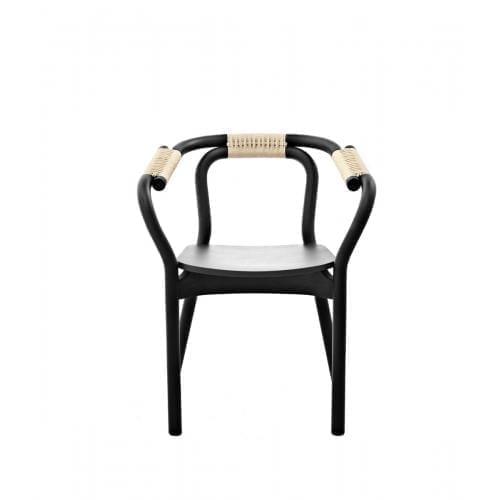 KNOT szék - fekete/natúr-0