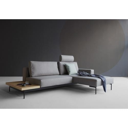 BRAGI Sofa with side table - 140x200-0