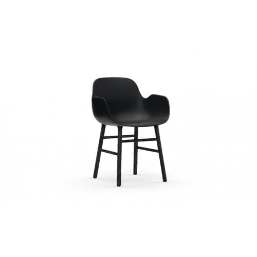 FORM Karfás szék - műanyag/fekete tölgy-0