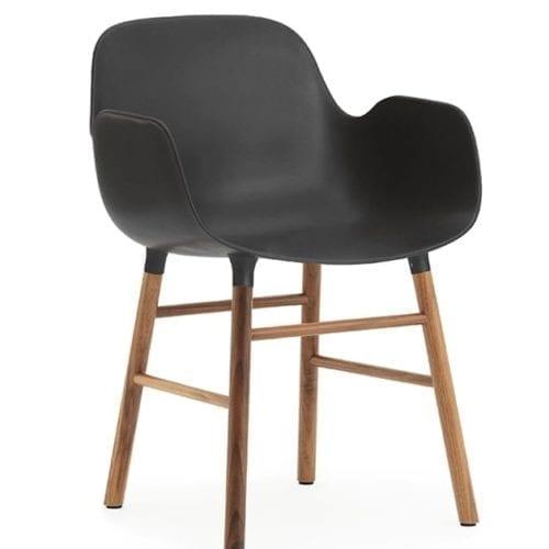 FORM Karfás szék - műanyag/dió-18292