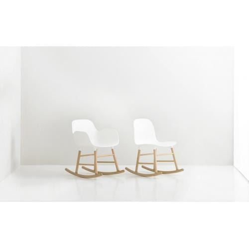 FORM Rocking armchair – plastic/oak-18410