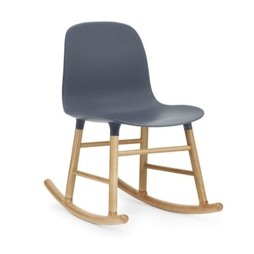 FORM Rocking chair - plastic/oak-18490