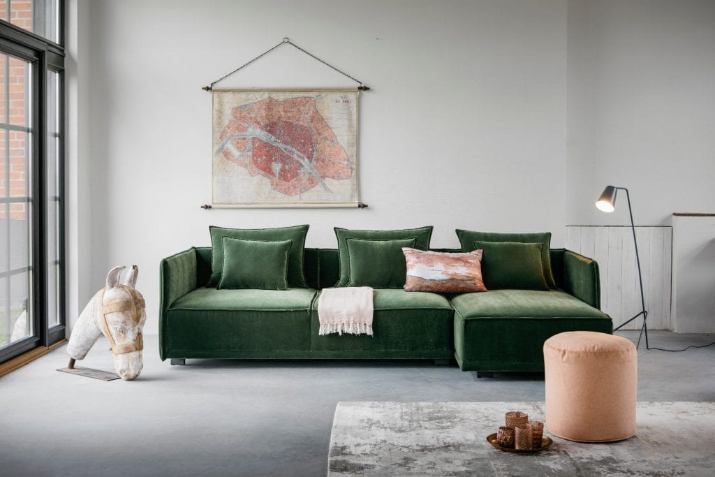 STORM Modular sofa with chaise longue-0