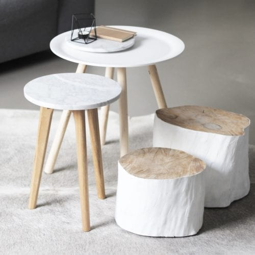 WHITE STONE Side table-0