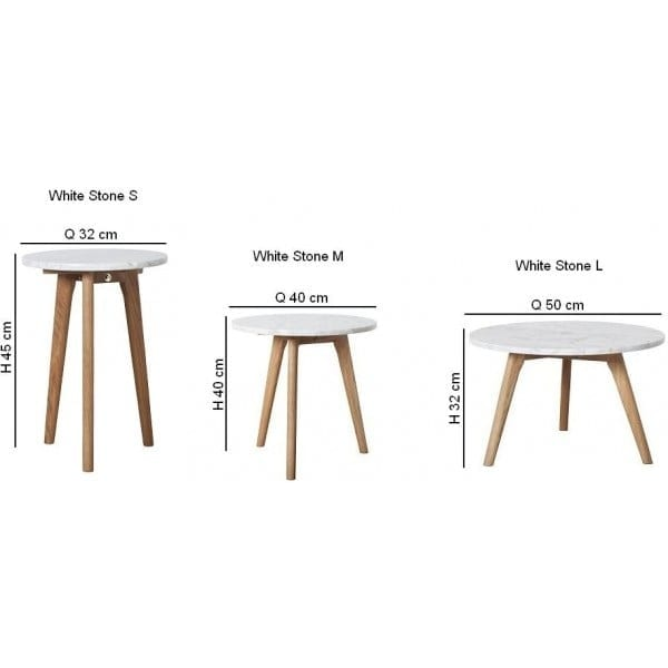 WHITE STONE Side table-23768