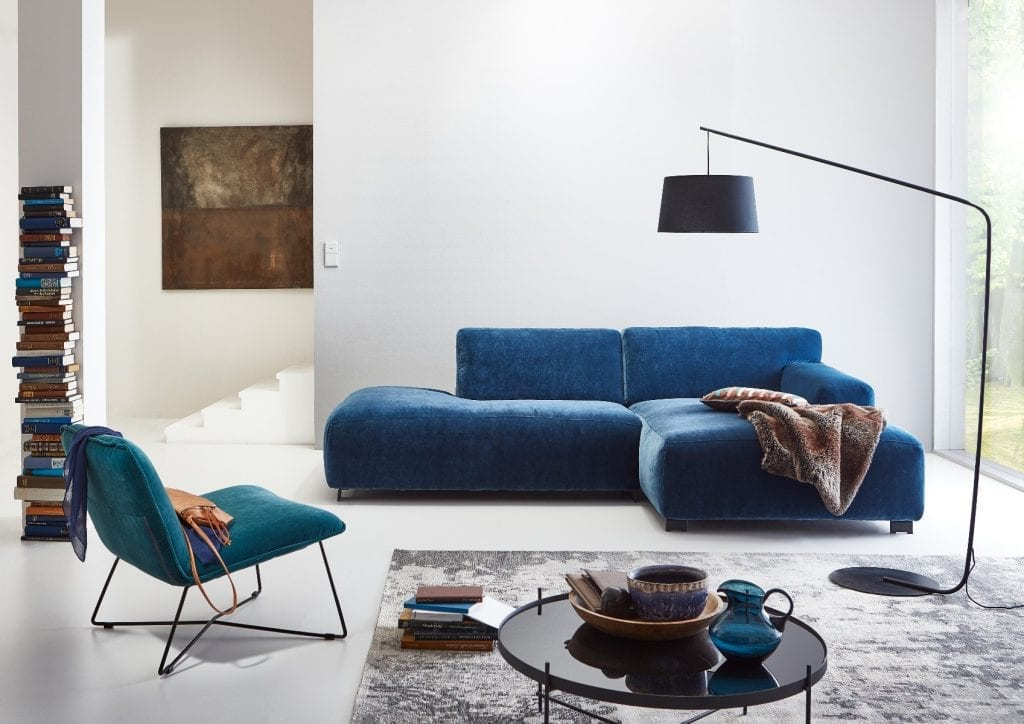 ZEUS Modular sofa with open end and chaise longue-0