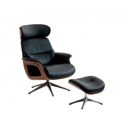 Flexlux EASE CLEMENT Design chair with wooden shell-24666