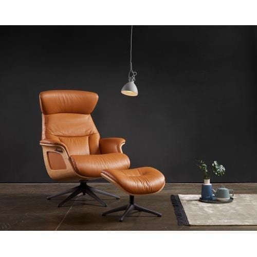 Flexlux EASE SERENE Design chair with wooden shell-0