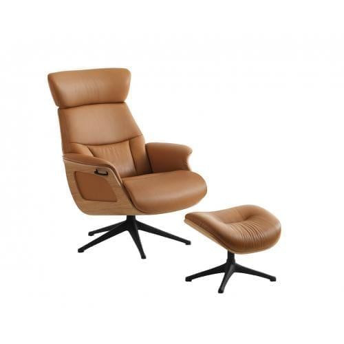 Flexlux EASE SERENE Design chair with wooden shell-24594