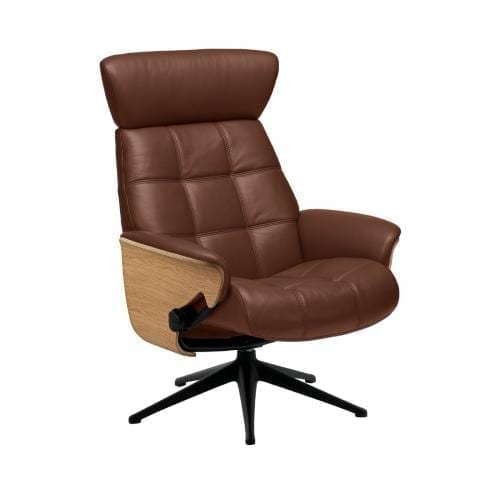 Flexlux SENSE URBAN Design chair with wooden shell-0