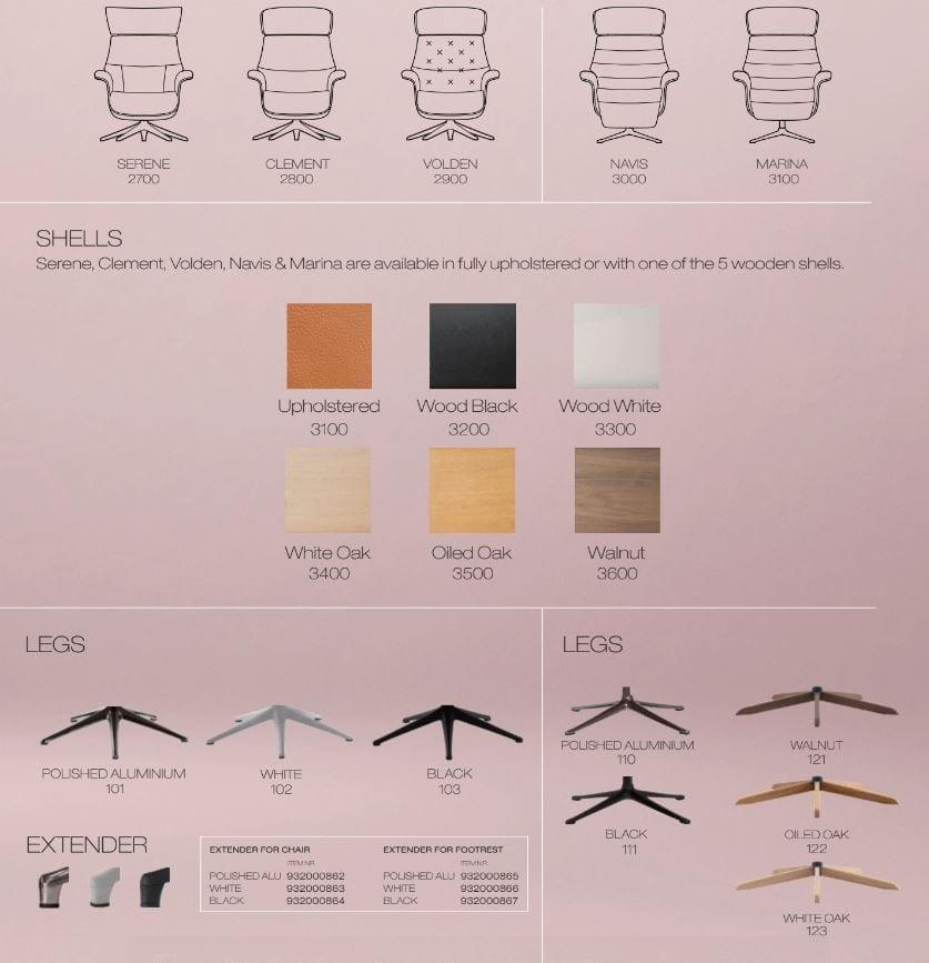Flexlux EASE SERENE Design lábtartó fa héjazattal-24610