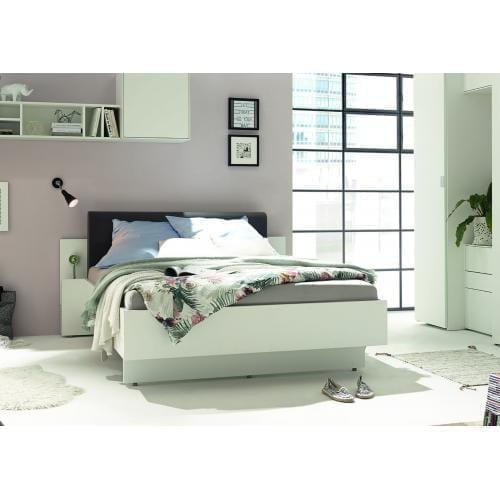 Hülsta Bed with upholstered headboard-0