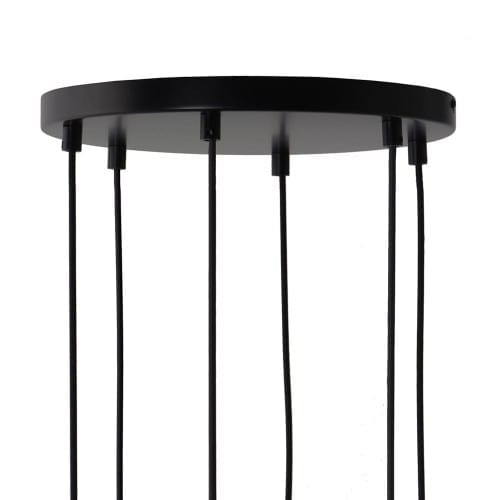 FRANDSEN_CANOPY_OUTLET_FOR_6_PENDANTS_BLACK