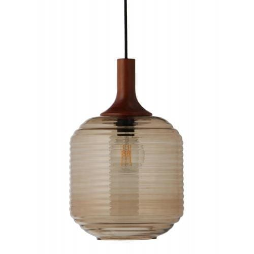 HONEY pendant 26 cm amber glass black socket 154472