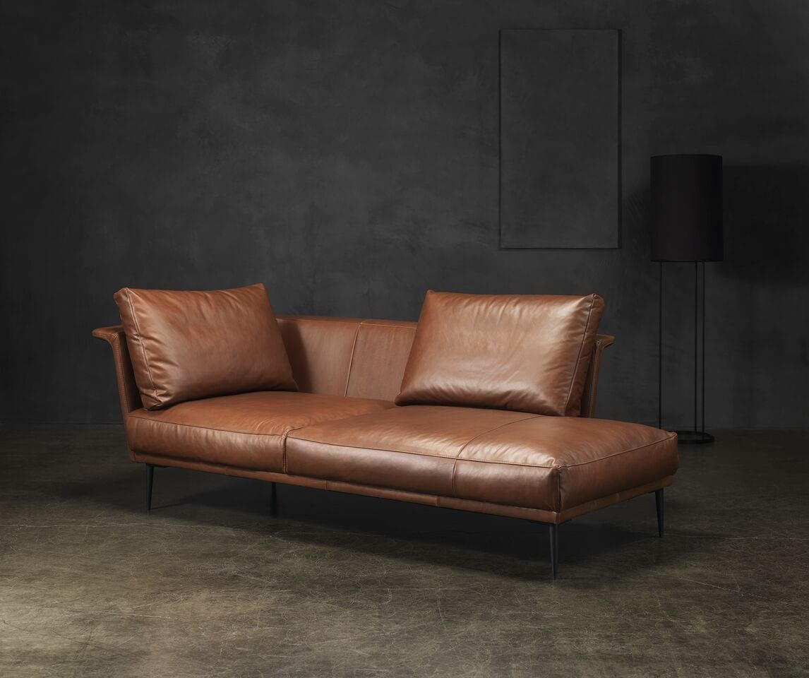 Desio Leather Lounger Sofa Innoconcept