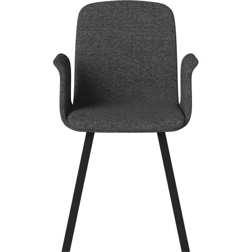 black_bolia_palm_upholstered_dining_chair_armrest_innoconcept_karpitozott_etkezoszek_kartamasszal
