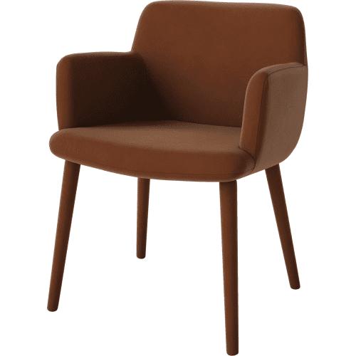 cognac_bolia_c3_dining_chair_upholstered_legs_innoconcept_etkezoszekarpitozott_labakkal