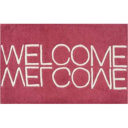welcome_handmade_wool_doormat_pink