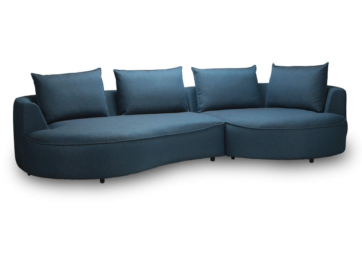 - SAMONE 4 Seater Sofa With Round Chaise Longue InnoConcept